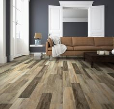 coretec installation-living room- distressed wood look