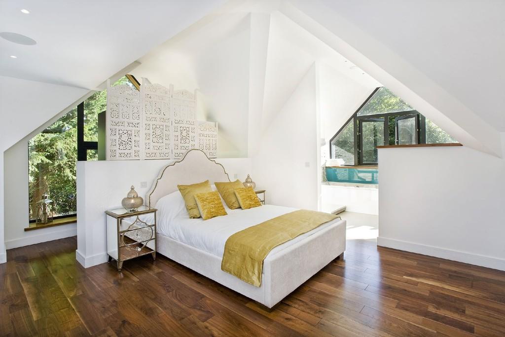 Engineered Walnut flooring-floating floor system- wood floor bedroom