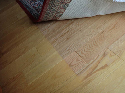 Brazilian Cherry Prefinished Hardwood Floors Sun Damage