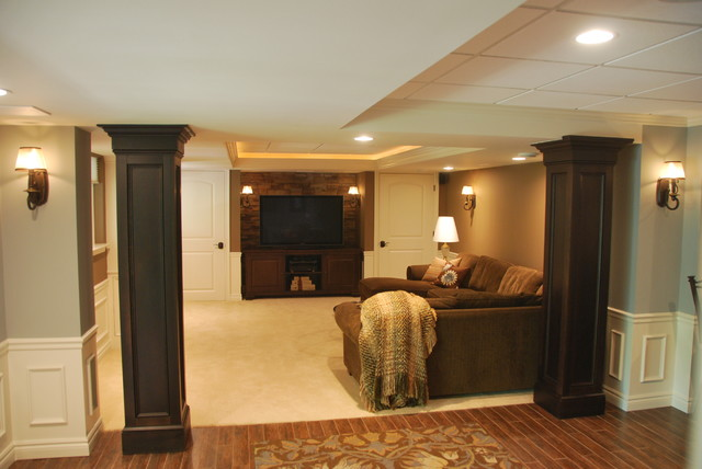 Refinished basement