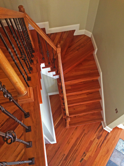 Brazilian Koa/Tigerwood Custom Stairs