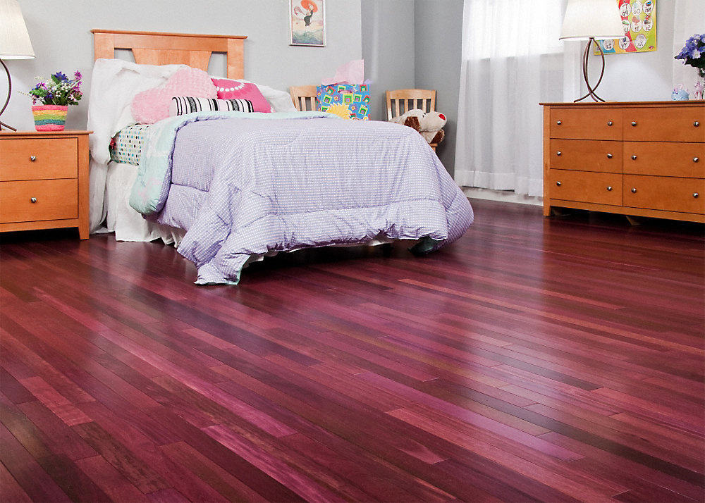Purpleheart hardwood the flooring blog for Purple heart flooring