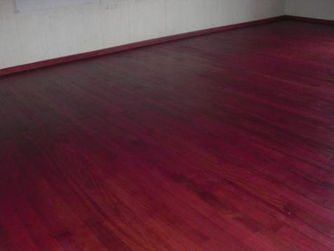 Purpleheart hardwood floor