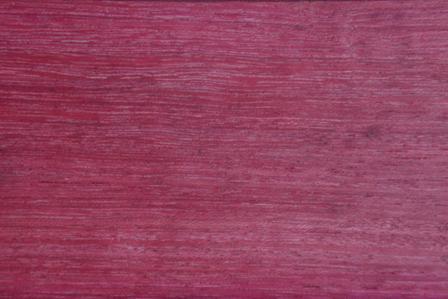 Purpleheart wood grain up close
