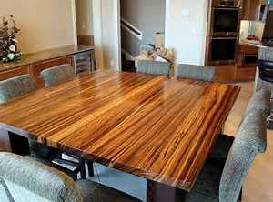 Zebrawood dining table