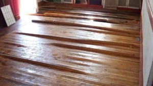 Buckled Hardwood Flooring