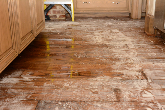 Burst Pipe Under Kitchen Floor