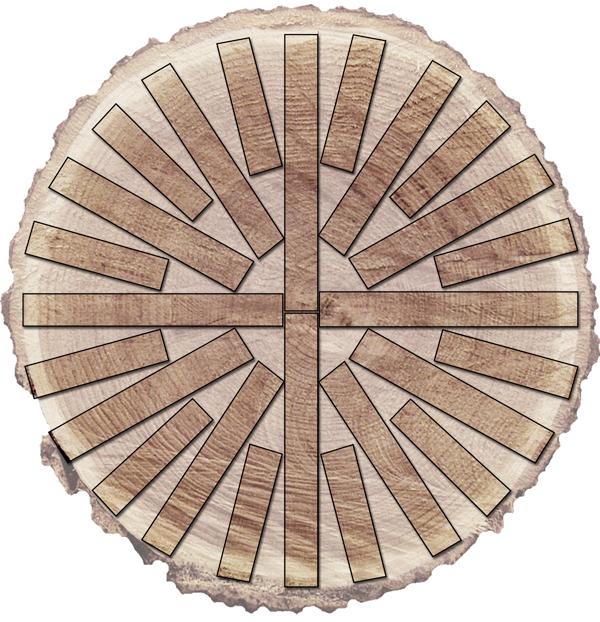 Rift-Sawn Cut Diagram