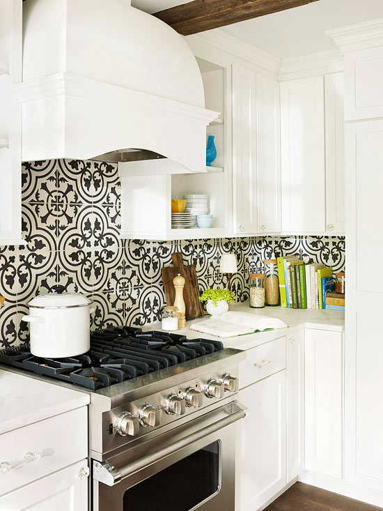 backsplash, high contrast