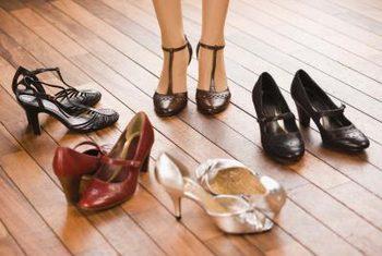 Shoes on hardwood flooring