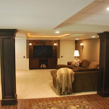 Refinished basement