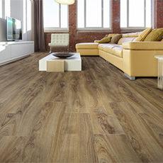 coretec flooring installation-living room-eco-friendly floor-floating floor system-wood-look plank